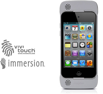 ... rumble feedback gaming device designed to give you a new dimension to  your gaming experience while playing games on the iPod touch 4th generation.